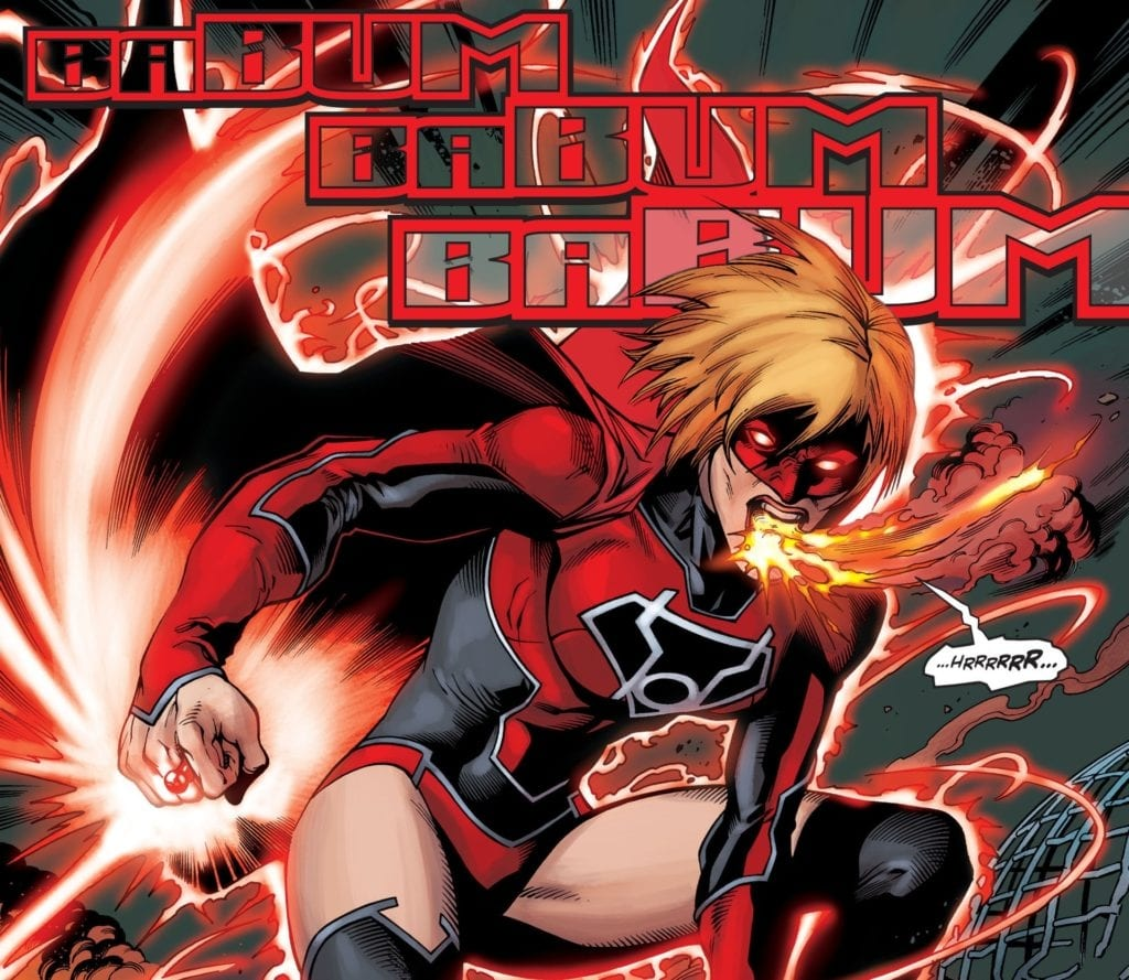 Kara as a Red Lantern is an awesome concept, but the execution wasn't too great.