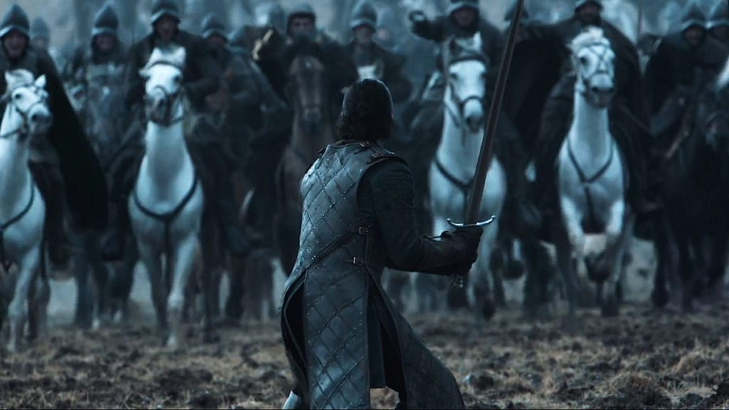 Image result for jon snow CHARGING RAMSAY AT THE BATTLE OF THE BASTARDS