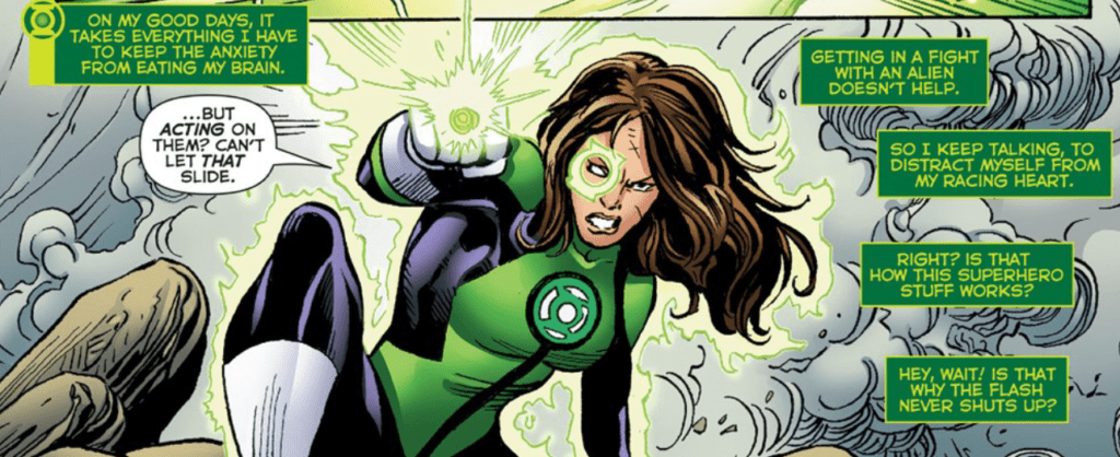The Thing Is Though Jess Was MADE For This Other Green Lanterns Are Fearless By Nature And Thats Well Good Them Jessica Goes Toe To With