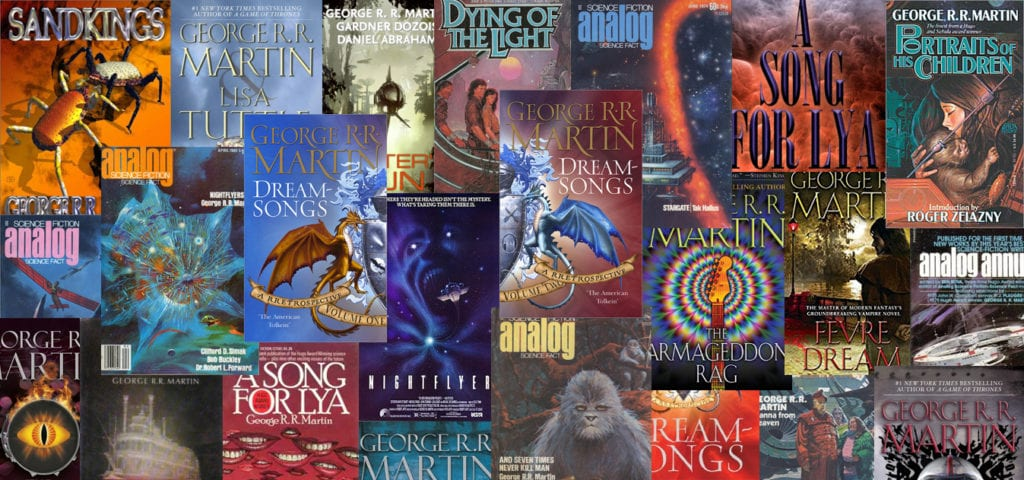 Several covers for GRRM's stories over the decades