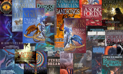 Several covers of George R R Martin's books