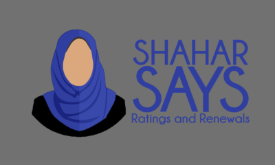 Hijabi silhouette next to phrase: Shahar Says Ratings and Renewals