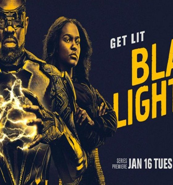 Black Lightning, Anissa, and Jennifer with the phrase Get Lit