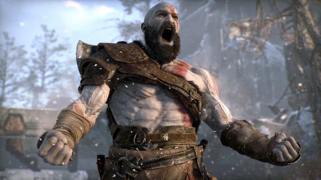 god of war kratos yell