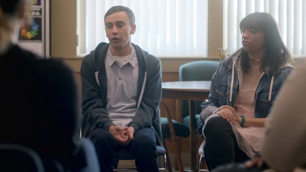 Keir Gilchrist as Sam Gardner and Layla Weiner in Atypical