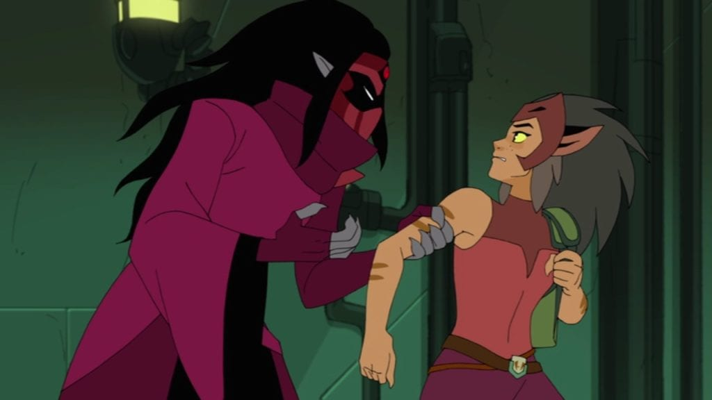 "Shadow Weaver and Catra in She-Ra and the Princesses of Power 1x10 ""The Beacon"""