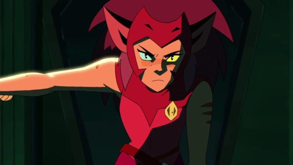 "Catra in She-Ra and the Princesses of Power 1x09 ""No Princess Left Behind"""