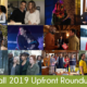 "Photos of new shows and text ""Fall 2019 Upfront Roundup"""