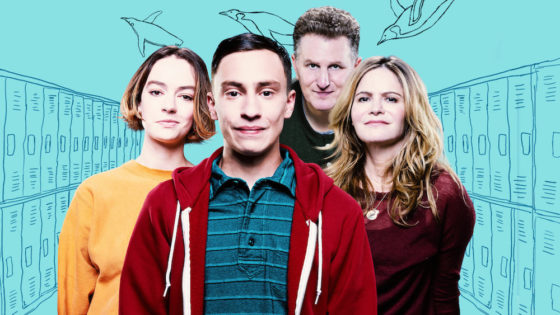 Brigette Lundy-Paine, Keir Gilchrist, Michael Rapaport and Jennifer Jason Leigh as Casey Gardner, Sam Garder, Doug Gardner, and Elsa Gardner in Atypical