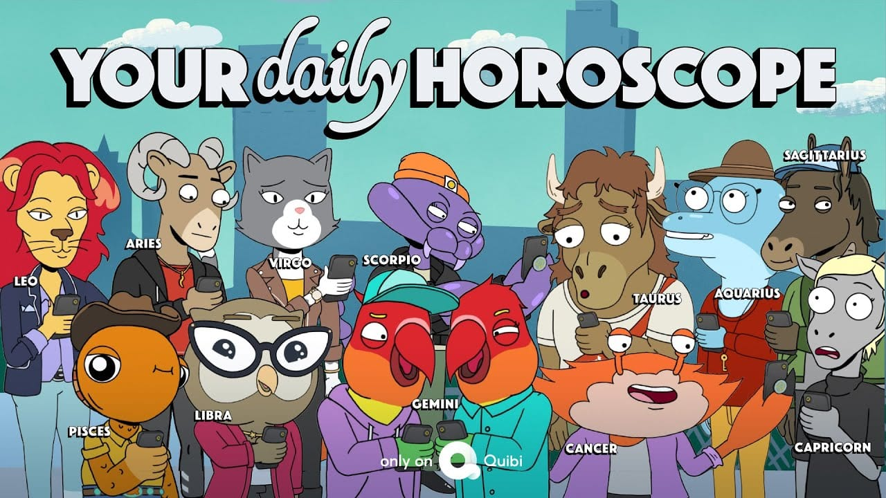 The animated cast of Your Daily Horoscope