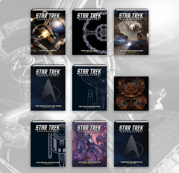 The Star Trek Adventures Books you can get at the eight dollar level.