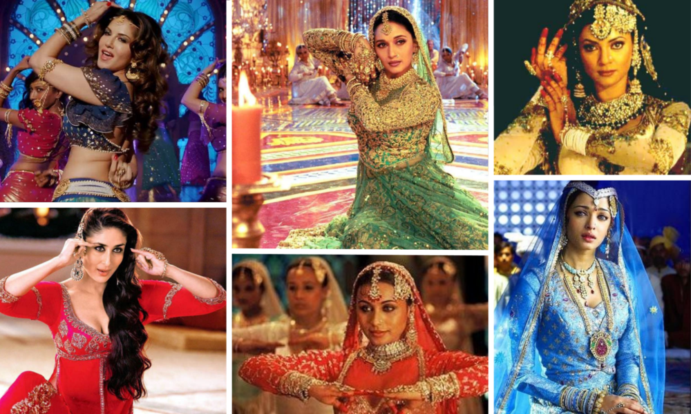 collage of Bollywood actresses in tawaif roles