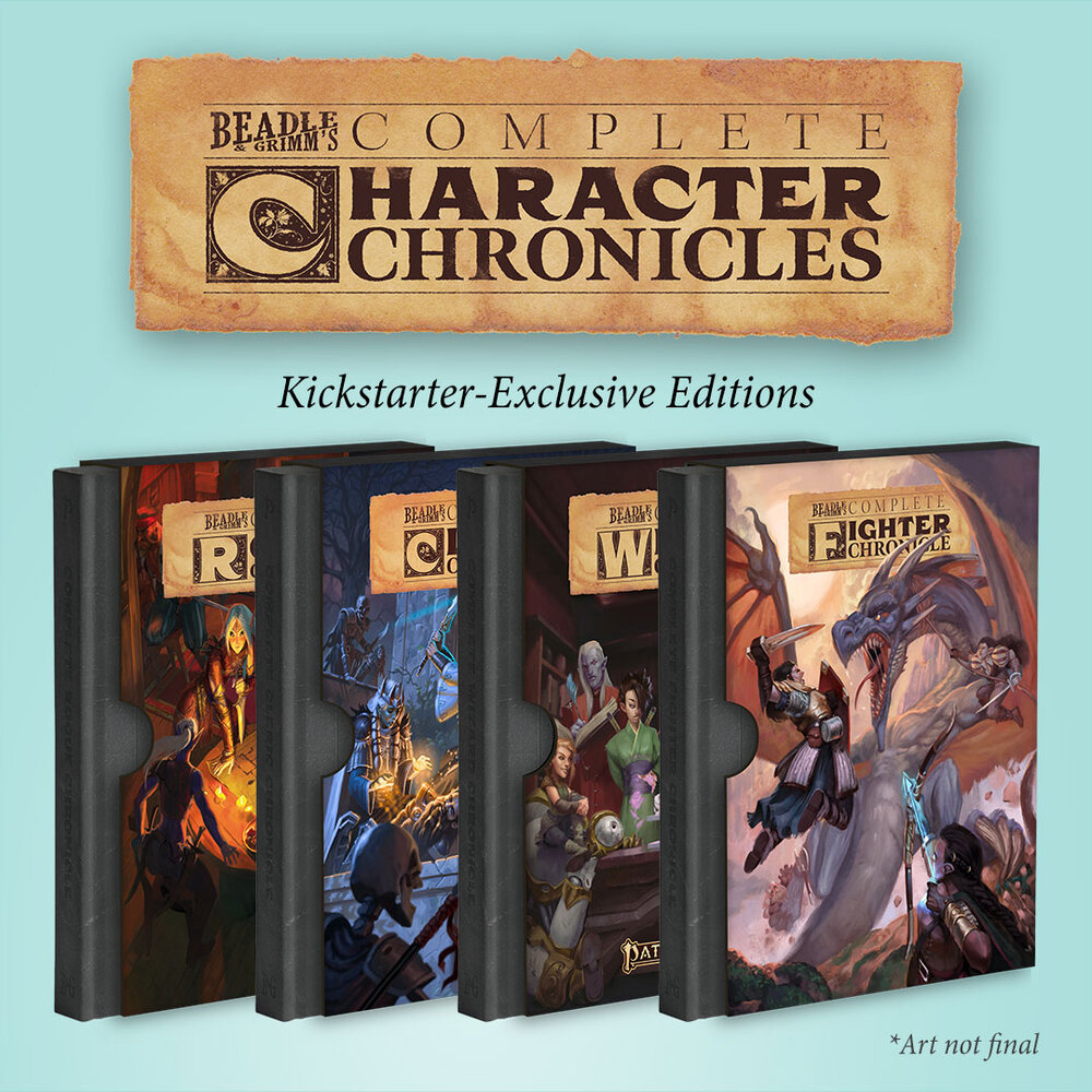 Character Chronicle Kickstarter Exclusive Editions