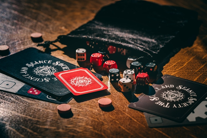 Dice, bags, and cards