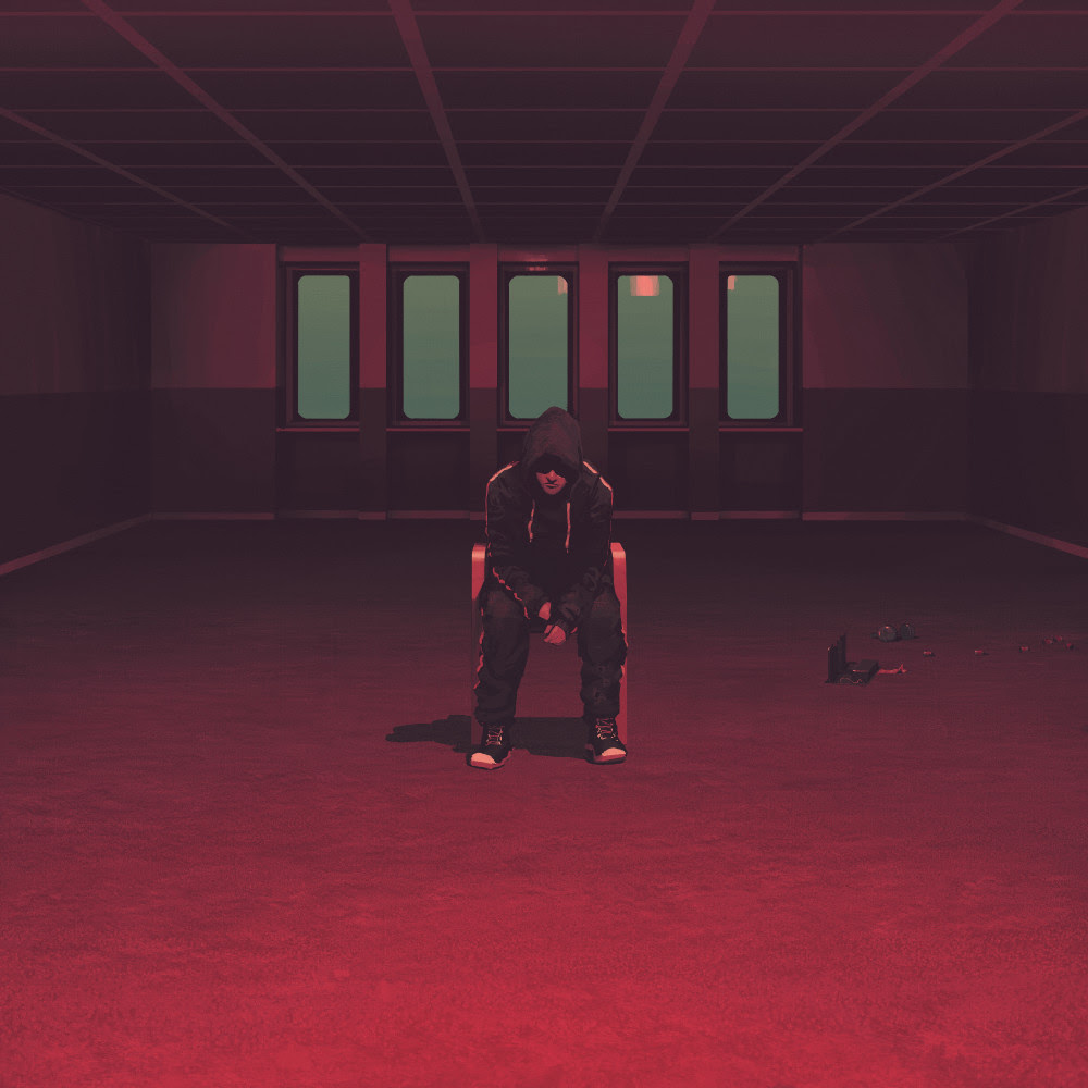 Art from The Labyringh of a man sitting in a red room alone