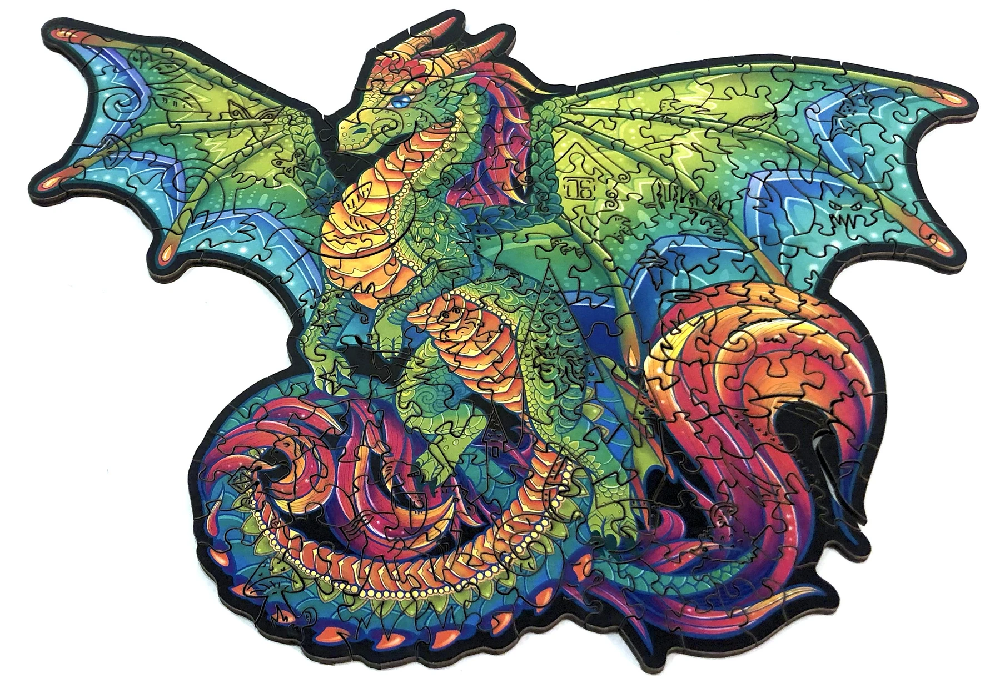 purfect puzzles colorful dragon