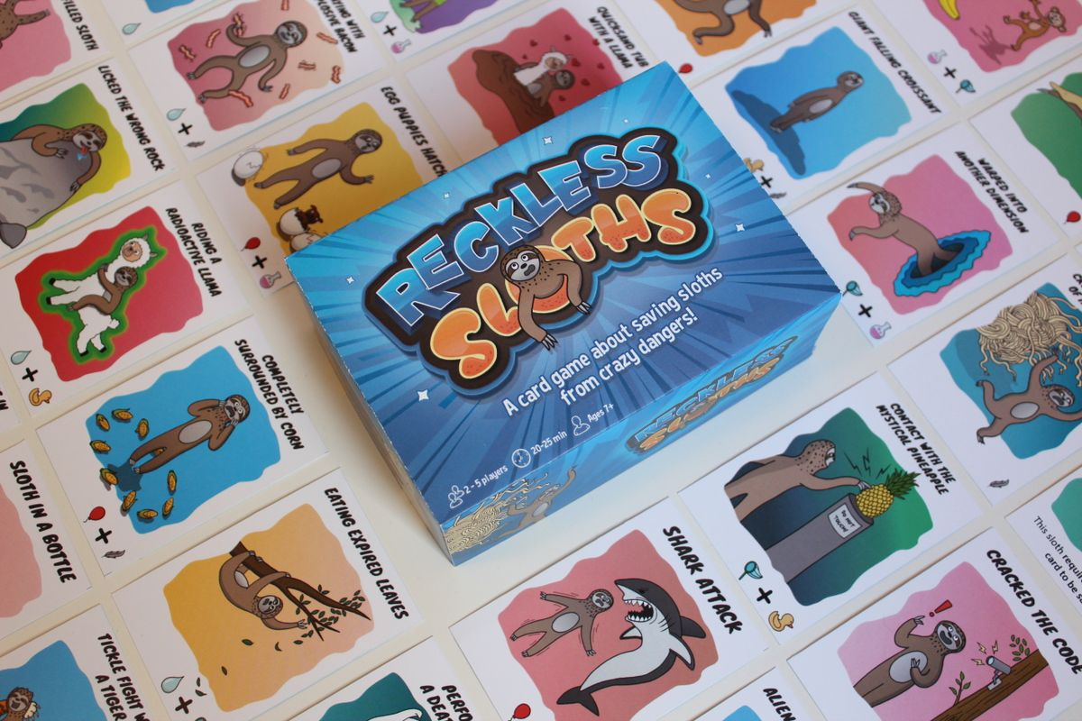 Reckless Sloths card game