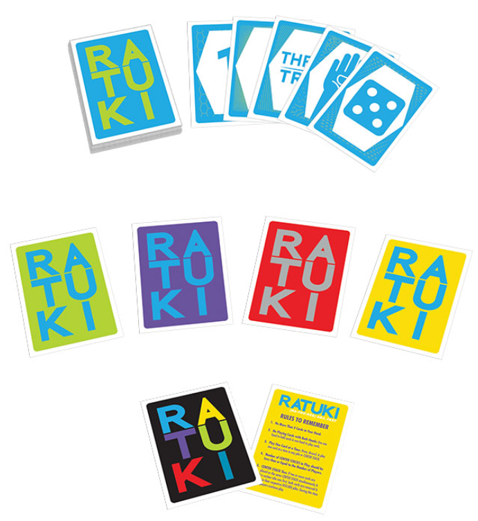 colorful cards with ratuku on the front
