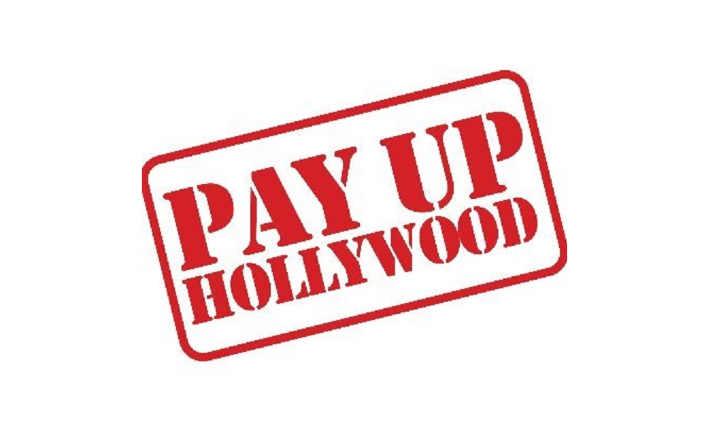 pay up hollywood in red font