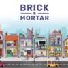 shops and stores brick and mortar illustration
