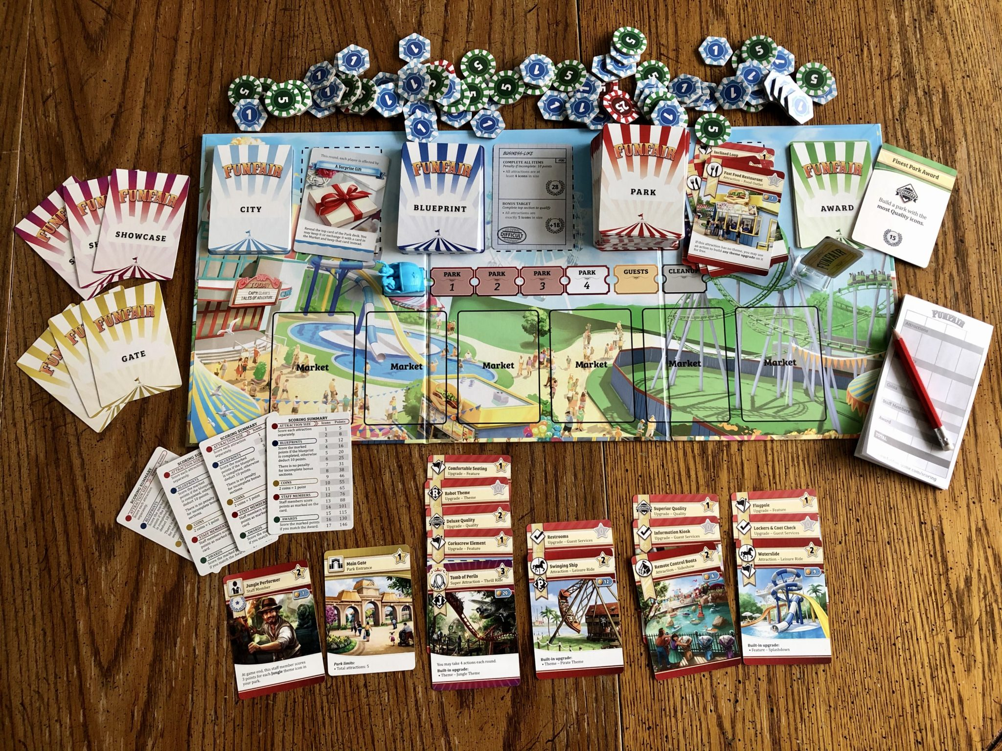 Funfair - Everything included in the game. Components