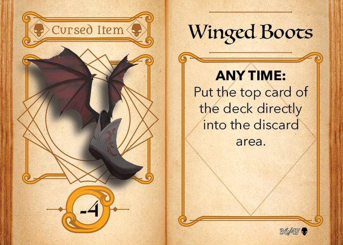 Fantasy Realms The Cursed Hoard cursed item card