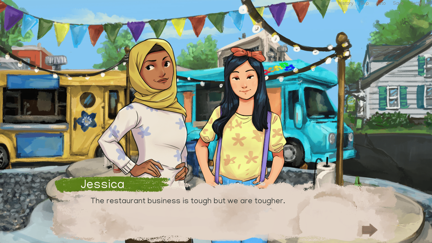 Amira and Jessica in Good Lookin' Home Cookin'