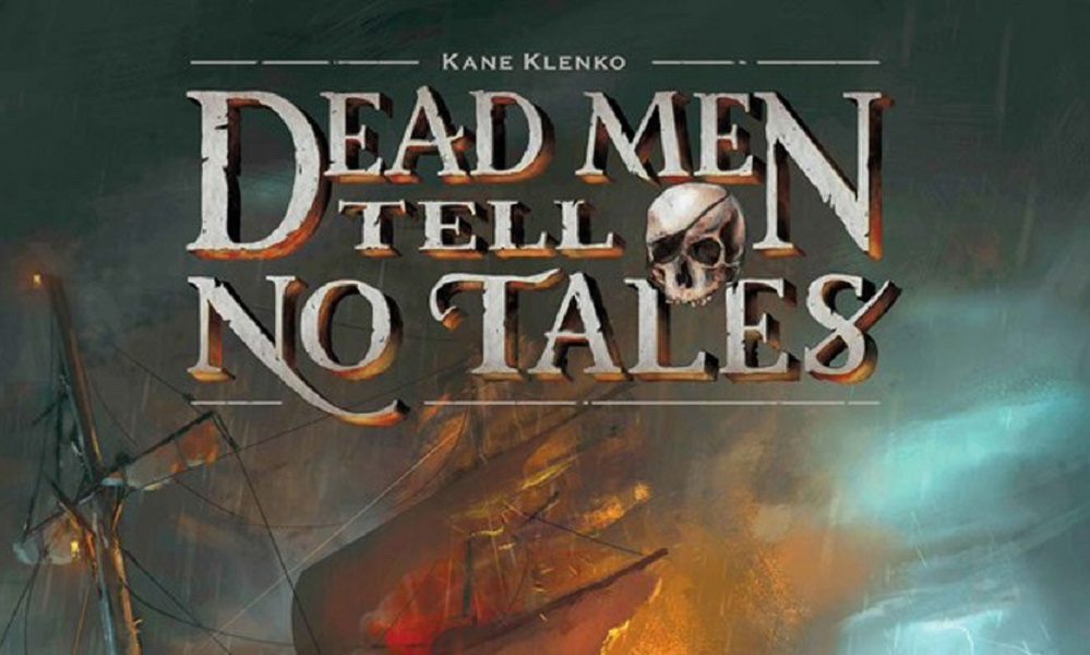 dead men tell no tales text in front of pirate ship