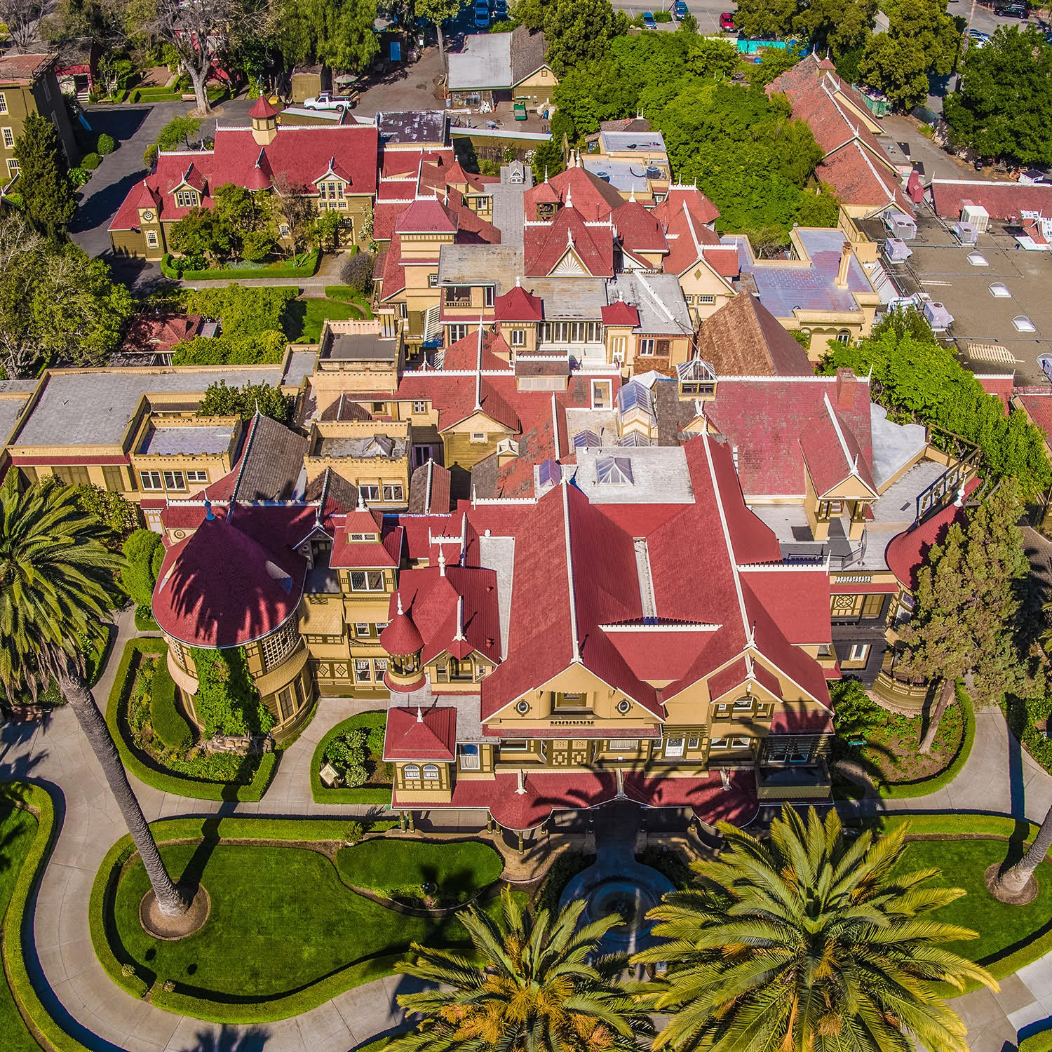 Winchester House from the air
