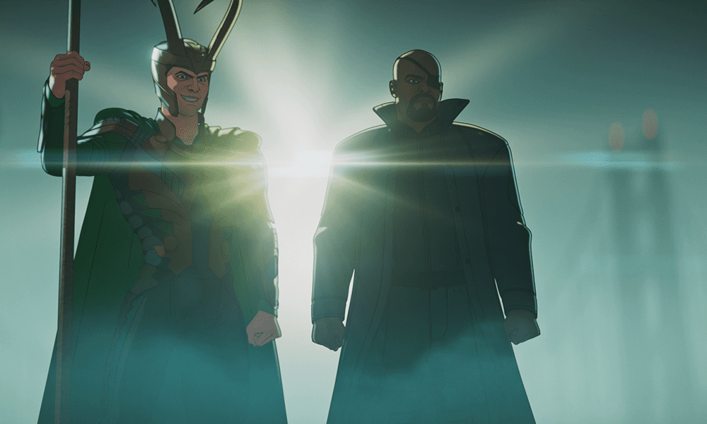 Loki and Nick Fury in What If ...? S01E03