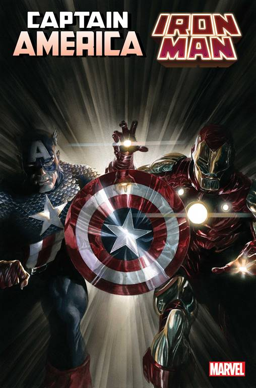 Captain America/Iron Man cover by Alex Ross showing both heroes under their name