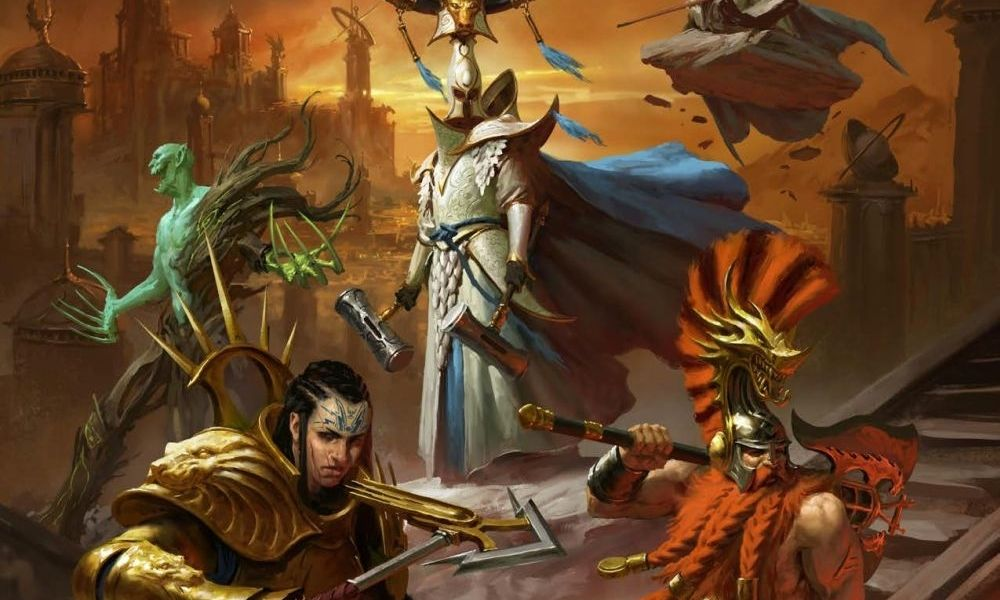 The cover of Soulbound Champions of Order. It depicts some of the new archetypes from the book in heroic poses.