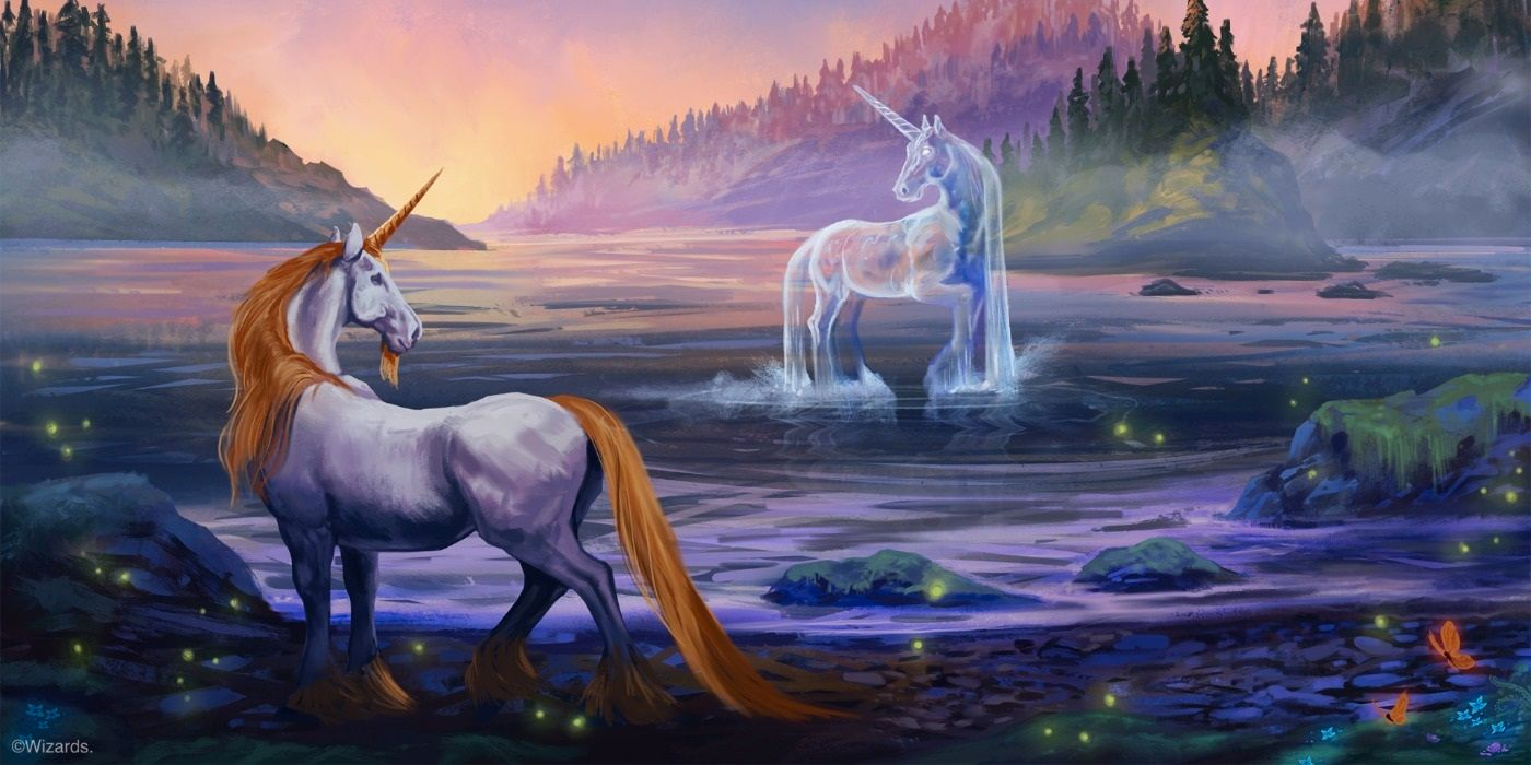 Wild Beyond the Witchlight art showing two unicorns