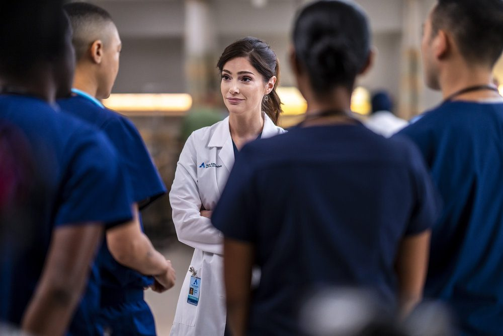 """NEW AMSTERDAM -- """"More Joy"""" Episode 401 -- Pictured: Janet Montgomery as Dr. Lauren Bloom -- (Photo by: Zach Dilgard/NBC)"""