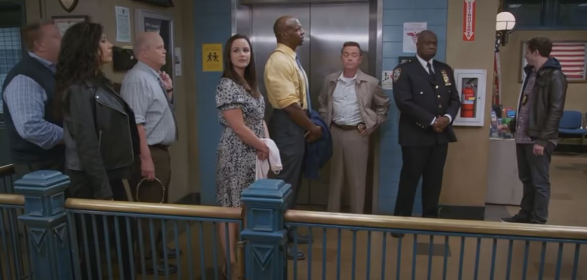 The cast leaves for the last time on Brooklyn Nine-Nine