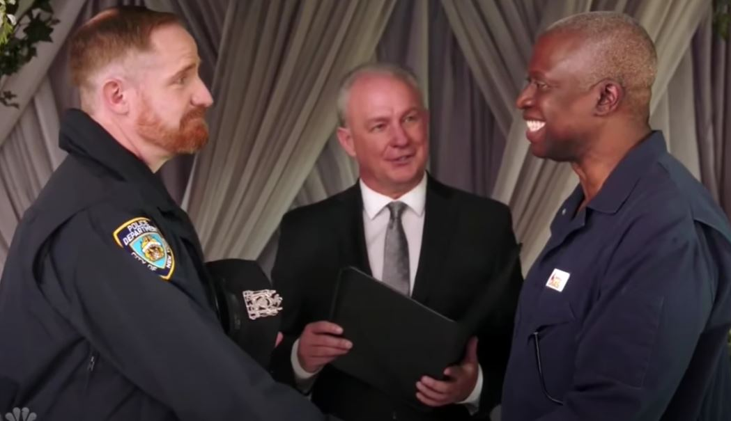 Holt and Kevin vows ceremony from Brooklyn Nine-Nine