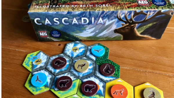 Cascadia game on the table