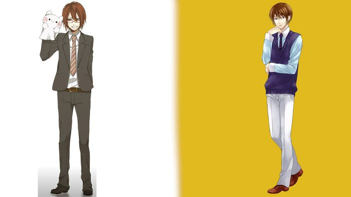 two virtual avatars both in business wear, left has glasses, right does not