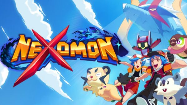 nexomon title with characters and creatures