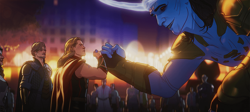 Thor and Giant Loki in What If...? S01E07