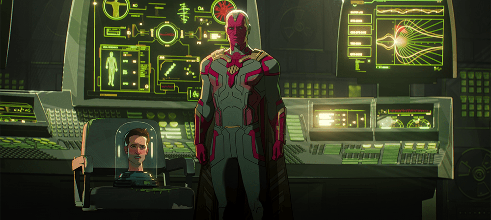 Scott Lang's head and Vision in What If...? S01E05