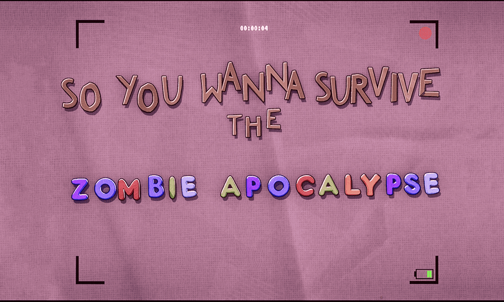 The Title Card of Peter Parker's Zombie Survival Guide in What If...? Episode 5