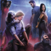 illustrated vampires, werewolves, and humans on fangs cover
